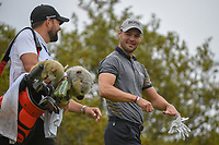 Martin Kaymer (GER) shares a laugh with his caddie as he heads down 10 during day 3 of the Valero Texas Open, at the TPC San Antonio Oaks Course, San Antonio, Texas, USA. 4/6/2019.<br /> Picture: Golffile | Ken Murray<br /> <br /> <br /> All photo usage must carry mandatory copyright credit (© Golffile | Ken Murray)