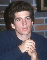John  Kennedy Jr. 1985<br /> Photo By John BarrettPHOTOlink.net