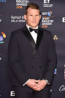 Dylan Hartley arriving for the BT Sport Industry Awards 2018 at the Battersea Evolution, London, UK. <br /> 26 April  2018<br /> Picture: Steve Vas/Featureflash/SilverHub 0208 004 5359 sales@silverhubmedia.com