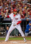 13 October 2016: Washington Nationals infielder Anthony Rendon in action during Game 5 of the NLDS against the Los Angeles Dodgers at Nationals Park in Washington, DC. The Dodgers edged out the Nationals 4-3, to take Game 5, and the Series, 3 games to 2, moving on to the National League Championship against the Chicago Cubs. Mandatory Credit: Ed Wolfstein Photo *** RAW (NEF) Image File Available ***