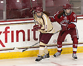 Caitlin Walsh (BC - 11), Hilary Hayssen (Harvard - 4) - The Boston College Eagles defeated the visiting Harvard University Crimson 3-1 in their NCAA quarterfinal matchup on Saturday, March 16, 2013, at Kelley Rink in Conte Forum in Chestnut Hill, Massachusetts.