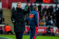 Ronald Koeman Manager of Southampton during the Barclays Premier League match between Swansea City and Southampton  played at the Liberty Stadium, Swansea  on February 13th 2016