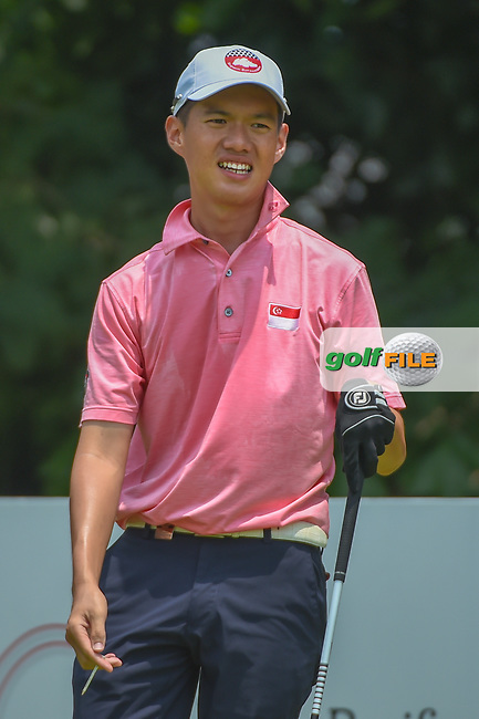 Joshua HO (SIN) watches his tee shot on 5 during Rd 2 of the Asia-Pacific Amateur Championship, Sentosa Golf Club, Singapore. 10/5/2018.<br /> Picture: Golffile | Ken Murray<br /> <br /> <br /> All photo usage must carry mandatory copyright credit (© Golffile | Ken Murray)