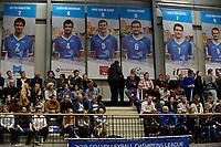 GRONINGEN - Volleybal, Abiant Lycurgus - Noriko Maaseik, Alfa College , Champions League , seizoen 2017-2018, 08-11-2017 volel tribunes