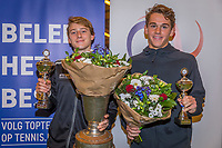 Wateringen, The Netherlands, December 8,  2019, De Rhijenhof , NOJK juniors 14 and18 years, Finals 18 years: Winner boys 18 years Guy den Ouden (NED) (L) and runner up Stein Pel (NED)<br /> Photo: www.tennisimages.com/Henk Koster
