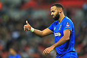 7th January 2018, Wembley Stadium, London, England;  FA Cup football, 3rd round, Tottenham Hotspur versus AFC Wimbledon; Liam Trotter of AFC Wimbledon sends a signal to team mates