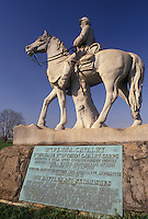 AJ4046, Gettysburg, Gettysburg National Military Park, civil war, battlefield, Pennsylvania, 8th Pennsylvania Cavalry Memorial in Gettysburg Nat'l Military Park in Gettysburg in the state of Pennsylvania.