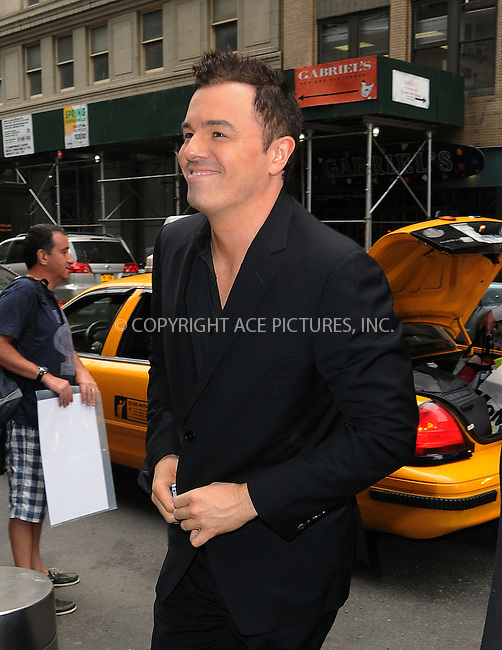 WWW.ACEPIXS.COM . . . . .  ....May 14 2012, New York City....Seth Macfarlane leaving a midtown hotel on May 14 2012 in New York City....Please byline: CURTIS MEANS - ACE PICTURES.... *** ***..Ace Pictures, Inc:  ..Philip Vaughan (212) 243-8787 or (646) 769 0430..e-mail: info@acepixs.com..web: http://www.acepixs.com