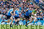 Mark Griffin Kerry in action against Bernard Brogan Dublin at the National League Final in Croke Park on Sunday.