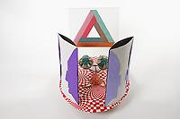 OrigamiUSA 2017 Holiday Tree at the American Museum of Natural History. Base 16 models:<br /> Penrose Triangle: Designer &ndash; Alessandro Beber, Folder &ndash; Rosalind Joyce<br /> Vase o Visage Optical Illusion: Designer &ndash; Eric Vigier, Folder &ndash; Lorne Dannenbaum<br /> Eyes: Designer &ndash; Ryuhei Uehara, Folder &ndash; Michael Verry<br /> Nose with Moustache: Designers &ndash; Jeremy Shaffer + Michael Verry, Folder &ndash; Michael Verry