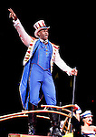Ringling Bros. and Barnum & Bailey's Circus Ringmaster Johnathan Lee Iverson, entertains the crowd at the Prudential Center in Newark, New Jersey.