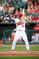 Peoria Chiefs third baseman Dylan Becker (43) during a game against the Dayton Dragons on May 6, 2016 at Dozer Park in Peoria, Illinois.  Peoria defeated Dayton 5-0.  (Mike Janes/Four Seam Images)