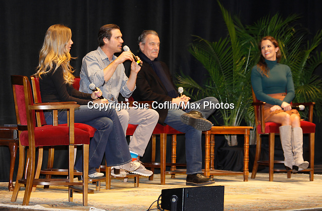 Melissa Ordway & Joshua Morrow & Eric Braeden & Melissa Claire Egan - The Young and The Restless - Genoa City Live celebrating over 40 years with on February 27. 2016 at The Lyric Opera House, Baltimore, Maryland on stage with questions and answers followed with autographs and photos in the theater.  (Photo by Sue Coflin/Max Photos)