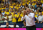 15.05.2018, EWE Arena, Oldenburg, GER, BBL, Playoff, Viertelfinale Spiel 4, EWE Baskets Oldenburg vs ALBA Berlin, im Bild<br /> Ablauss fuer die Jungs<br /> Mladen DRJENCIC (EWE Baskets Oldenburg #Headcoach, #Coach, #Trainer)<br /> Foto &copy; nordphoto / Rojahn