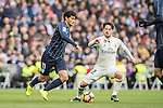Isco of Real Madrid fights for the ball with Chory Castro of Malaga CF during their La Liga 2016-17 match between Real Madrid and Malaga CF at the Estadio Santiago Bernabéu on 21 January 2017 in Madrid, Spain. Photo by Diego Gonzalez Souto / Power Sport Images