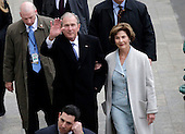 Former President of the United States George W. Bush and wife Laura Bush arrive near the east front steps of the Capitol Building before President-elect Donald Trump is sworn in at the 58th Presidential Inauguration on Capitol Hill in Washington, D.C. on January 20, 2017.  <br /> Credit: John Angelillo / Pool via CNP