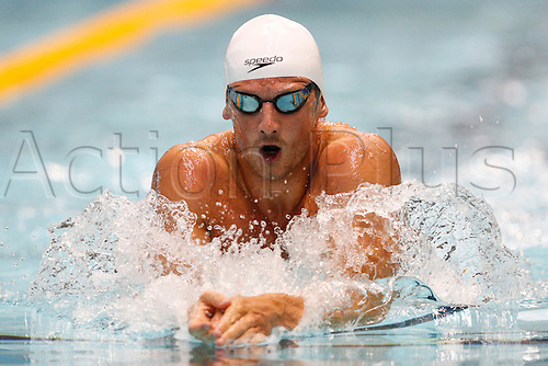26.06.2014  Manchester, England.   Olympic silver medallist Michael JAMIESON (Bath Uni) in action during the Mens Open 200m Breastroke Heats at the British Gas International Swim Meet at Manchester Aquatics Centre.