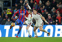 Crystal Palace's Christian Benteke vies for possession with Burnley's Steven Defour <br /> <br /> Photographer Ashley Crowden/CameraSport<br /> <br /> The Premier League - Crystal Palace v Burnley - Saturday 13th January 2018 - Selhurst Park - London<br /> <br /> World Copyright &copy; 2018 CameraSport. All rights reserved. 43 Linden Ave. Countesthorpe. Leicester. England. LE8 5PG - Tel: +44 (0) 116 277 4147 - admin@camerasport.com - www.camerasport.com