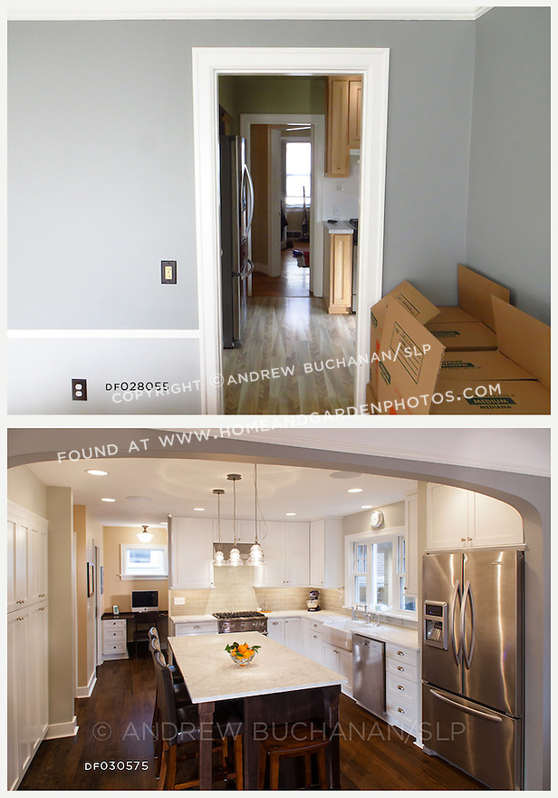 A newly remodeled kitchen feels open and inviting, connecting more effectively to the rest of the home.