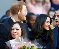 01 December 2017 - Prince Harry and Meghan Markle at Terrence Higgins Trust World AIDS Day Charity Fair at Nottingham Contemporary in Nottingham, Nottinghamshire. Photo Credit: ALPR/AdMedia