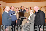 WORLD WIDE: Members of Currow GAA Club at the launch of their new website at the Currow GAA Grounds on Friday night..L/r. Thomas Brosnan,  John Scanlon, Paddy O'Conor, Paddy O'Sullivan, James Brosnan, Sandra Brosnan and Johnny Brosnan.