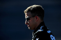 Apr 17, 2009; Avondale, AZ, USA; NASCAR Sprint Cup Series driver A.J. Allmendinger during qualifying for the Subway Fresh Fit 500 at Phoenix International Raceway. Mandatory Credit: Mark J. Rebilas-