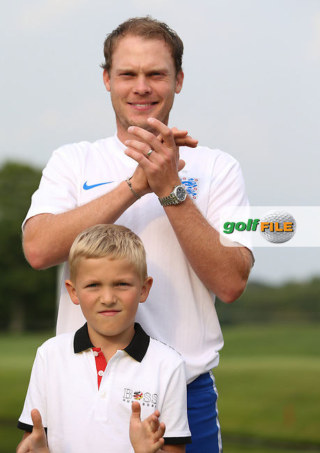 Danny Willett (ENG). hoping to score some goals for England in the Foot Golf Challenge at the Opening Show Event of the BMW International Open 2014 from Golf Club Gut Lärchenhof, Pulheim, Köln, Germany. Picture:  David Lloyd / www.golffile.ie