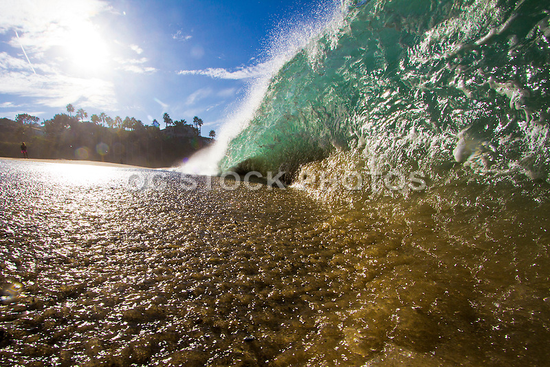 Crashing Waves Breaking on the Shore at Aliso Creek Beach in Laguna