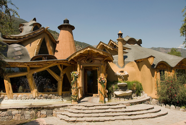 Chile Wine Country near Santiago:  Restaurant Casa Bosque, east of Maipo Valley.  .Photo #: ch491-32957..Photo copyright Lee Foster, 510-549-2202, www.fostertravel.com, lee@fostertravel.com.