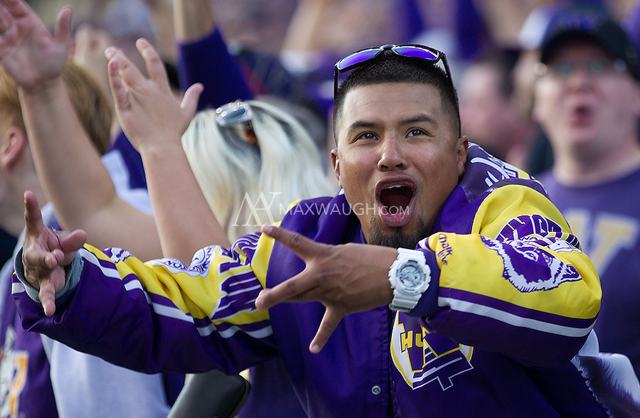 Husky fans showed their passion during the rout of Stanford.