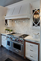 Grace, a stone water jet mosaic, shown in Calacatta, is part of the Ann Sacks Beau Monde collection sold exclusively at www.annsacks.com<br /> -photo courtesy of Jane Kelly, Kitchen and Bath Designer<br /> http://airoom.com