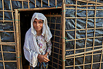 A Rohingya woman in the Jamtoli Refugee Camp near Cox's Bazar, Bangladesh. More than 600,000 Rohingya refugees have fled government-sanctioned violence in Myanmar for safety in this and other camps in Bangladesh.