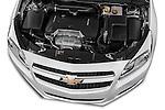 High angle engine detail of a  .2013 Chevrolet Malibu 1LS