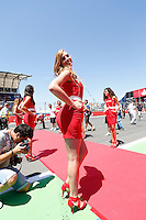 24.06.2012. Valencia, Spain. FIA Formula One World Championship 2012 Grand Prix of Europe Race.  The picture show pit girls