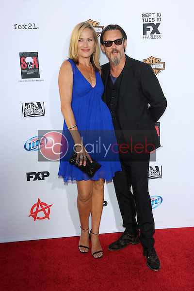 """Dina Livingston, Tommy Flanagan<br /> at the """"Sons of Anarchy"""" Season Six Premiere Screening, Dolby Theatre, Hollywood, CA 09-07-13<br /> David Edwards/Dailyceleb.com 818-249-4998"""