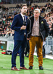 Stockholm 2015-02-16 Fotboll Tr&auml;ningsmatch Hammarby IF - LA Galaxy :  <br /> Cmore kommentator Jonas Dahlquist bredvid Hammarbys tr&auml;nare Nanne Bergstrand inf&ouml;r matchen mellan Hammarby IF och LA Galaxy <br /> (Foto: Kenta J&ouml;nsson) Nyckelord:  Fotboll Tr&auml;ningsmatch Tele2 Arena Hammarby HIF Bajen Los Angeles LA Galaxy  portr&auml;tt portrait