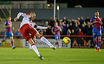 Kenny Miller volleys home an unstoppable shot to put Ranger into the lead at Inverness
