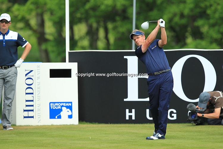 Luke Donald in action during the final round of the 2012 BMW PGA Championships played over the West Course, Wentworth, Surrey, England from 24th to 27th May 2012: Picture Stuart Adams www.golftourimages.com:  27th May 2012