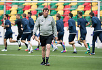 FK Trakai v St Johnstone…05.07.17… Europa League 1st Qualifying Round 2nd Leg<br />St Johnstone training at the LFF Stadium in Vilnius, Lithuania….Pictured Manager Tommy Wright during the training session<br />Picture by Graeme Hart.<br />Copyright Perthshire Picture Agency<br />Tel: 01738 623350  Mobile: 07990 594431