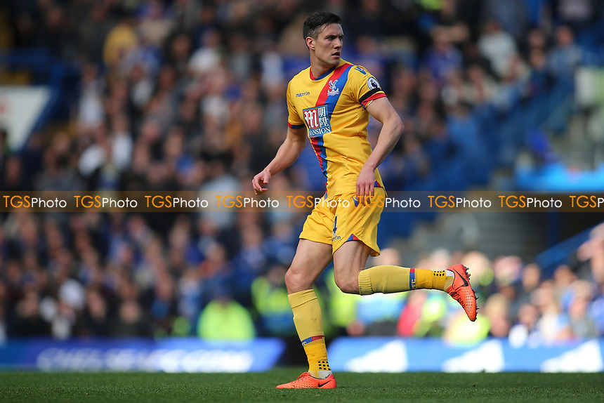 Martin Kelly of Crystal Palace during Chelsea vs Crystal Palace, Premier League Football at Stamford Bridge on 1st April 2017