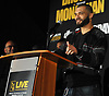 Vincenzo D'Angelo, boxer and Long Island native, speaks during a news conference at NYCB Live's Nassau Coliseum on Tuesday, June 6, 2017. He will fight on July 15 when professional boxing is scheduled to return to the coliseum for the first time in over 30 years.