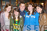 Aoife Allen, Leah Horgan, Ivan Hurley, Niamh Hickey and Alanna Grealy at the Kerry team homecoming in Killarney on Monday night..