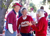 Fans at theBuck Cardinal Hospitality Area before Saturday's, November 23, 2013, Big Game at Stanford University.