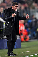 Diego Simeone coach of Atletico Madrid reacts during the Uefa Champions League 2018/2019 round of 16 second leg football match between Juventus and Atletico Madrid at Juventus stadium, Turin, March, 12, 2019 <br />  Foto Andrea Staccioli / Insidefoto