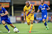 New signing Andros Townsend of Crystal Palace during the Friendly match between AFC Wimbledon and Crystal Palace at the Cherry Red Records Stadium, Kingston, England on 27 July 2016. Photo by Edward Thomas / PRiME Media Images.