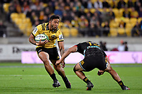 Hurricanes' Vince Aso in action during the Super Rugby - Hurricanes v Chiefs at Westpac Stadium, Wellington, New Zealand on Friday 13 April 2018.<br /> Photo by Masanori Udagawa. <br /> www.photowellington.photoshelter.com
