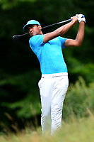 Potomac, MD - July 1, 2017: Tony Finau tees off on the 10th hole during Round 3 of professional play at the Quicken Loans National Tournament at TPC Potomac at Avenel Farm in Potomac, MD, July 1, 2017.  (Photo by Don Baxter/Media Images International)