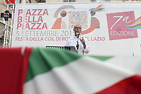 Roma, 5 Settembre 2015<br /> Piazza Farnese<br /> Festa della CGIL Roma e Lazio Piazza Bella Piazza<br /> Claudio Di Berardino