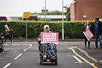 © Joel Goodman - 07973 332324 . 10/06/2016 . Manchester , UK . Vote Remain activist in Hulme , Manchester , in support of the Remain campaign , ahead of the UK's EU Referendum . Photo credit : Joel Goodman