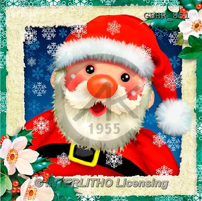 Howard, CHRISTMAS SANTA, SNOWMAN, WEIHNACHTSMÄNNER, SCHNEEMÄNNER, PAPÁ NOEL, MUÑECOS DE NIEVE, Christmas animals, Weihnachten Tiere, Navidad animales, paintings+++++,GBHR851,#X#,#XA#